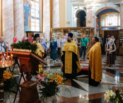 В канун Недели 5-й по Пятидесятнице первый проректор семинарии совершил всенощное бдение в храме Воскресения Христова города Витебска