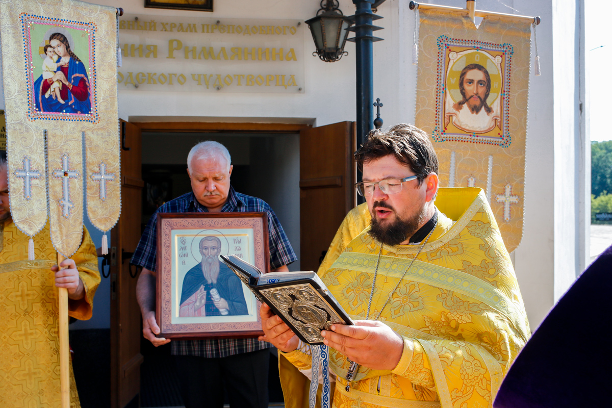 Престольный праздник в храме святого преподобного Антония Римлянина