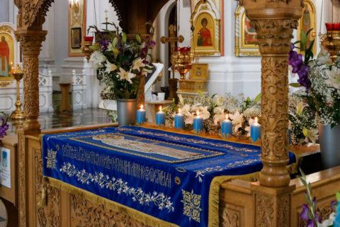 В канун праздника Успения Пресвятой Богородицы ректор семинарии совершил всенощное бдение в кафедральном соборе города Витебска