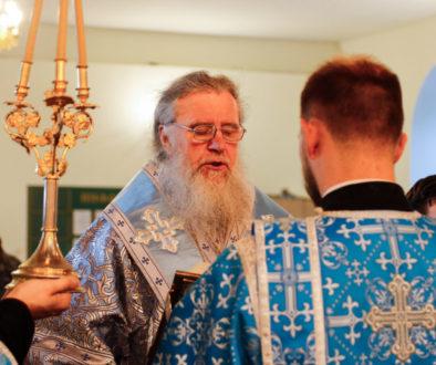 В канун праздника Рождества Богородицы ректор семинарии совершил всенощное бдение в Свято-Троицком Марковом мужском монастыре