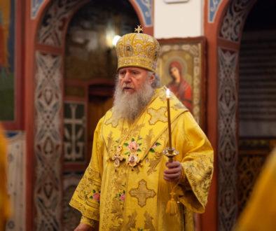 В канун дня памяти святителя Димитрия Ростовского ректор семинарии совершил всенощное бдение в Свято-Покровском соборе