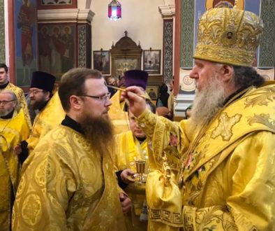 Служение ректора в канун Недели 24-ой по Пятидесятнице