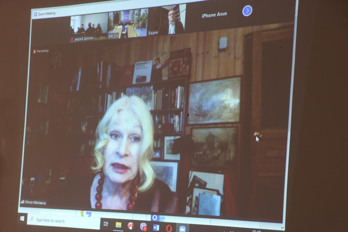Витебская духовная семинария приняла участие во встрече с профессором Московского Литературного института на платформе Zoom