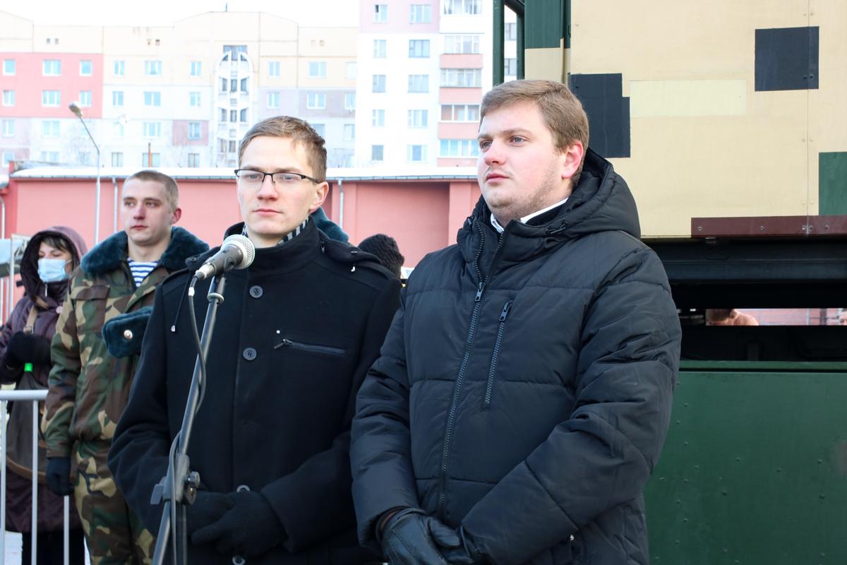 Преподаватель и студенты семинарии приняли участие в военной присяге новобранцев Витебской 103-й отдельной гвардейской воздушно-десантной бригады