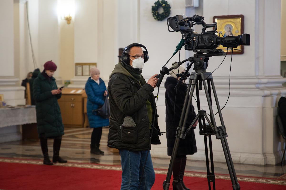 Божественная литургия в праздник Рождества Христова. Фоторепортаж