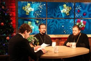 Преподаватели семинарии приняли участие в телепередаче «Вечерний Витебск», посвященной празднику Рождества Христова