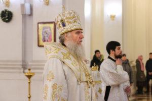 В канун праздника Рождества Христова ректор семинарии совершил всенощное бдение в Свято-Успенском кафедральном соборе Витебска