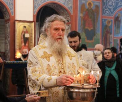 В праздник Богоявления ректор семинарии совершил Литургию и чин великого освящения воды в Свято-Покровском соборе города Витебска