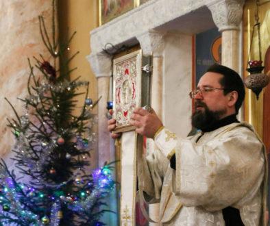 В канун Недели 32-ой по Пятидесятнице первый проректор совершил всенощное бдение в храме Воскресения Христова города Витебска
