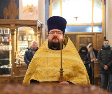 В канун Недели о Страшном Суде первый проректор семинарии совершил всенощное бдение в храме Воскресения Христова города Витебска.