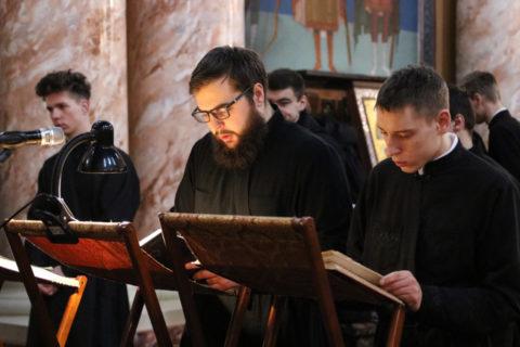 Во вторник первой седмицы Великого поста первый проректор семинарии совершил уставное богослужение в храме Воскресения Христова