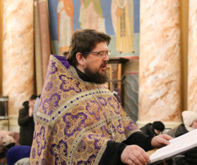 Первый проректор семинарии совершил утреню с чтением Великого канона преподобного Андрея Критского в храме Воскресения Христова города Витебска