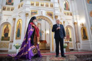 Ректор семинарии совершил традиционный Пасхальный молебен в Свято-Успенском кафедральном соборе города Витебска