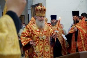 В канун дня памяти святой великомученицы Ирины ректор семинарии совершил всенощное бдение в одноименном храме города Москвы