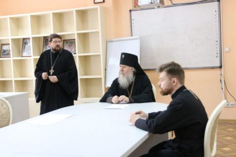 В семинарии прошла встреча ректора со студентами, посвященная празднику Пасхи