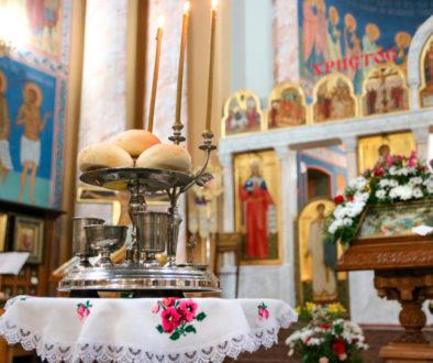 В канун Недели 2-й по Пасхе первый проректор Витебской духовной семинарии совершил всенощное бдение в храме Воскресения Христова города Витебска