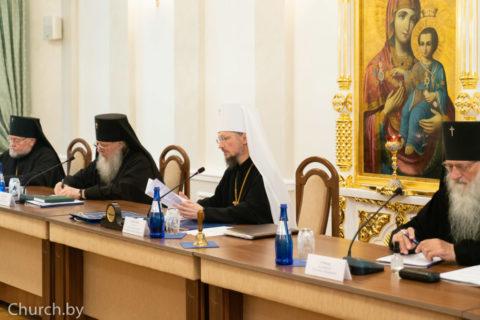 Ректор семинарии принял участие взаседании Синода Белорусской Православной Церкви