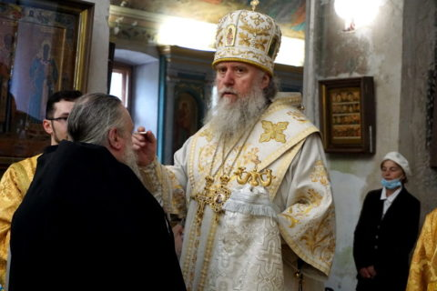 В канун Недели 7-й по Пасхе ректор семинарии совершил всенощное бдение в храме великомученицы Ирины города Москвы