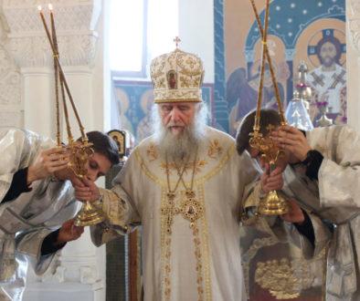 В праздник Вознесения Господня ректор семинарии совершил Литургию в Свято-Покровском соборе города Витебска