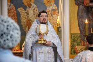 В Неделю 7-ю по Пасхе первый проректор семинарии совершил Литургию в храме Воскресения Христова города Витебска