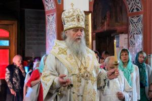 В канун праздника Вознесения Господня ректор семинарии совершил всенощное бдение в Свято-Покровском соборе города Витебска