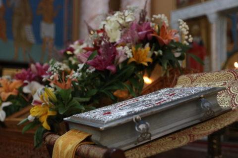 В канун Недели 3-ей седмицы по Пятидесятнице первый проректор семинарии совершил всенощное бдение в храме Воскресения Христова города Витебска