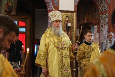 В канун Недели 4-й по Пятидесятнице ректор семинарии совершил всенощное бдение в Свято-Покровском соборе города Витебска