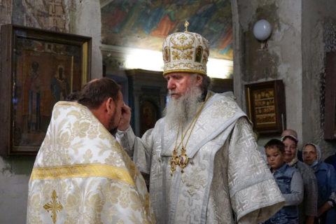 В канун Преображения Господня ректор семинарии совершил всенощное бдение в храме святой великомученицы Ирины города Москвы