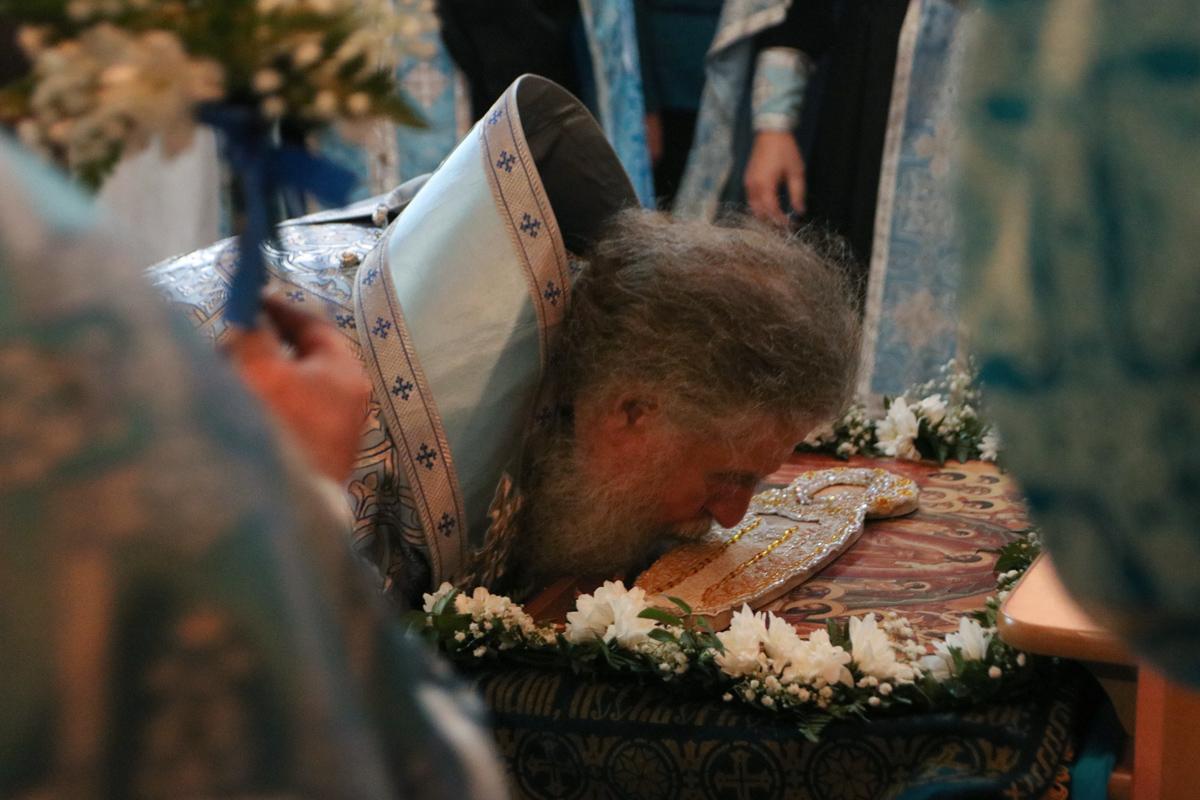 В канун праздника Успения Пресвятой Богородицы ректор семинарии совершил всенощное бдение в одноименном храме города Витебска